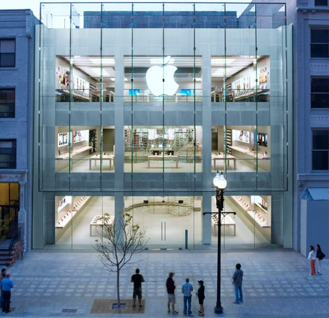 Apple Store di Boston completato