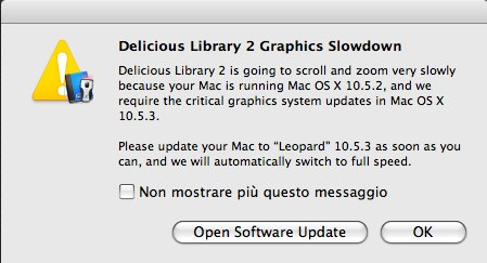 Delicious Library 2 Leopard 10.5.3