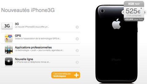 iPhone 3G Belgio