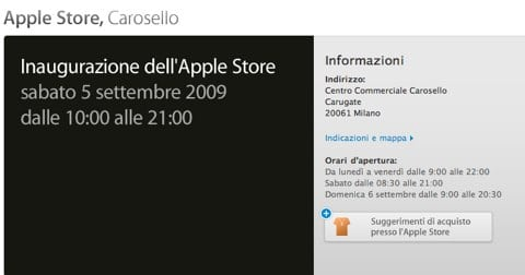 Apple Store Carosello