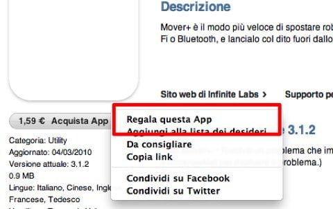 regalare app da iphone a ipad