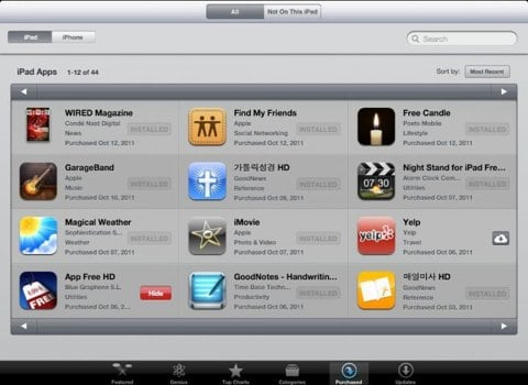 App Store apps acquistate