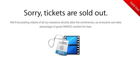 WWDC 2012 sold out