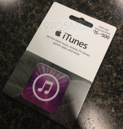 iTunes Card ricaricabili