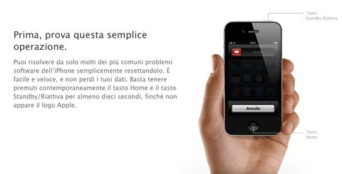 riavvio iPhone