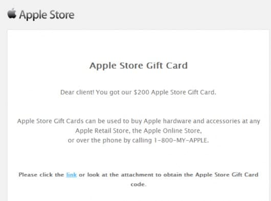 finta email itunes card