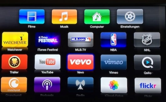 AppleTv Vevo e NHL