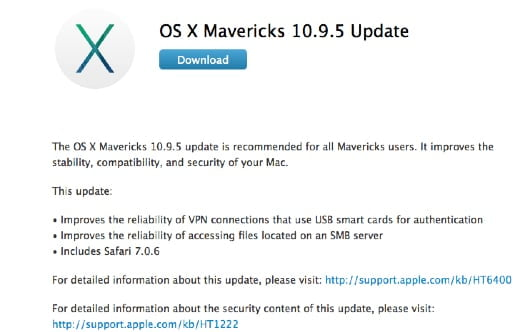 OS X Mavericks 10.9.5