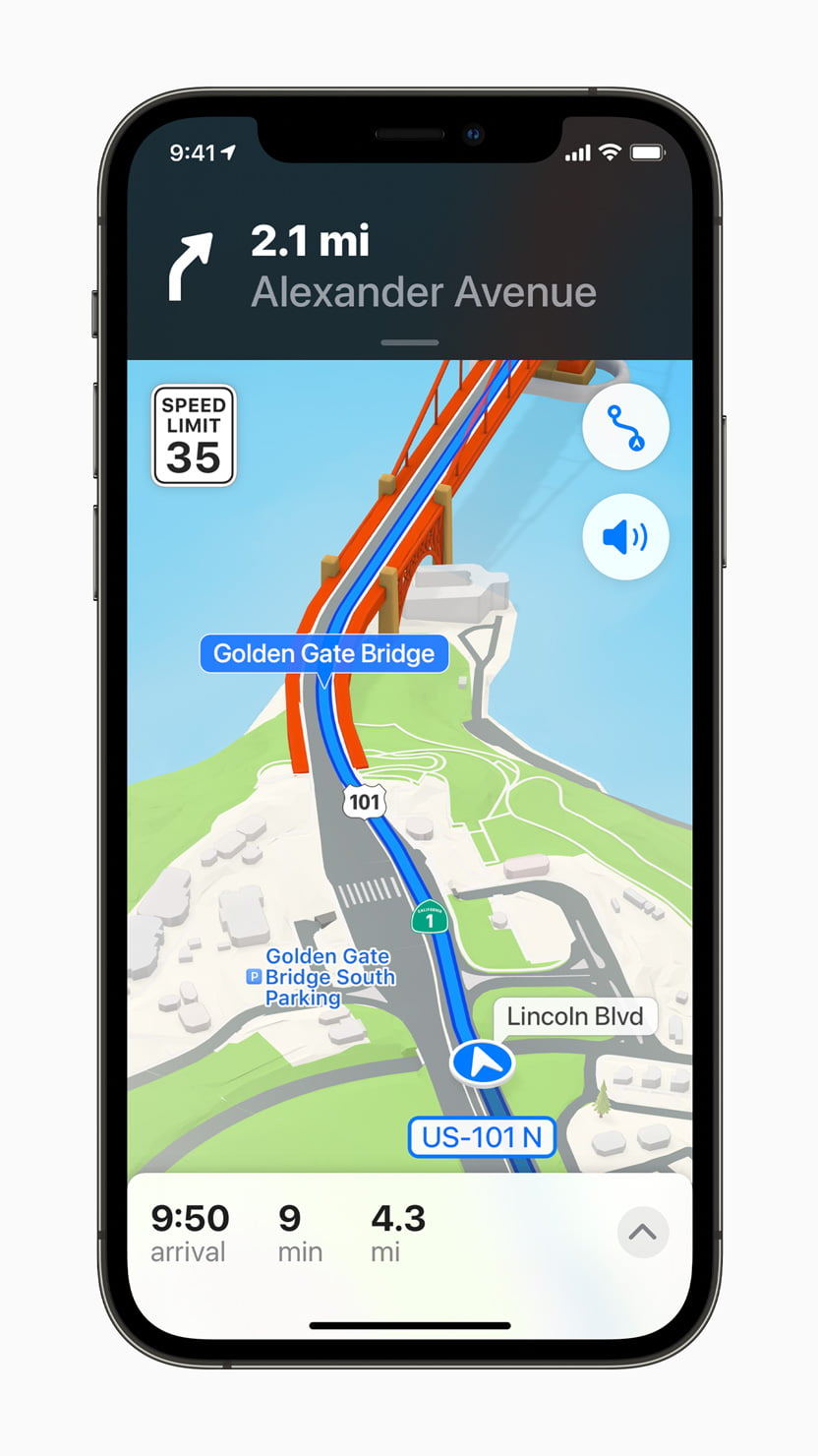 Le nuove mappe in iOS 15
